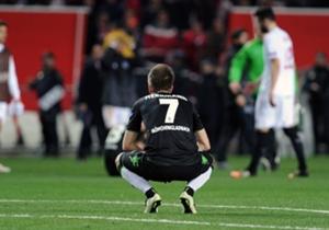 Patrick Herrmann und die Borussia schieden gegen Sevilla nach großem Kampf aus