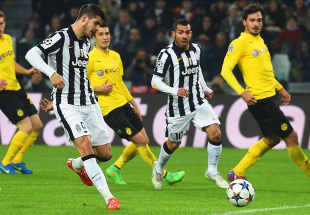 Juventus 2-1 Borussia Dortmund: Tevez and Morata give hosts the advantage