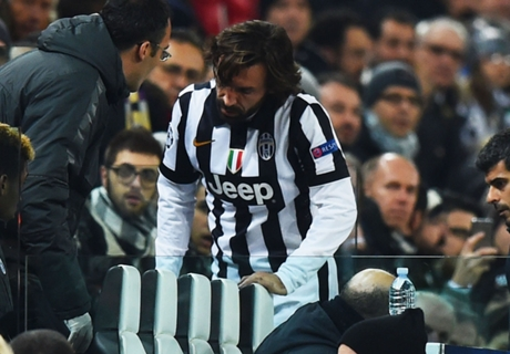 Injured Pirlo faces three weeks out