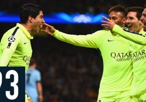 Le chiffre du 25/02/2015 - 93 - Hier soir, le FC Barcelone a remporté le match aller des 8ème de finale de la Ligue des champions sur la pelouse de Manchester City (1-2). Comme à leur habitude, les Catalans ont aussi mis le pied sur le cuir, avec une p...