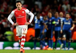 Alexis Sanchez | Arsenal 1 Monaco 3 | Liga Champions | Emirates Stadium