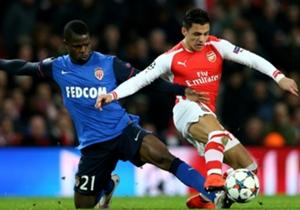 Elderson Uwa Echiejile Monaco; Alexis Sanchez Arsenal