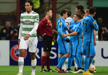 Inter edge past 10-man Celtic