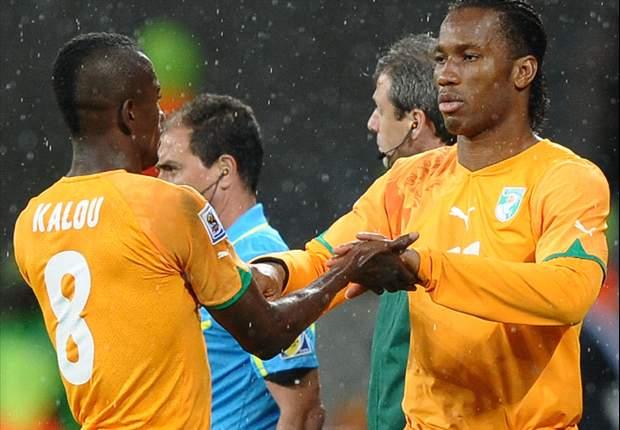 Ivoorkust na winst met één been in Brazilië