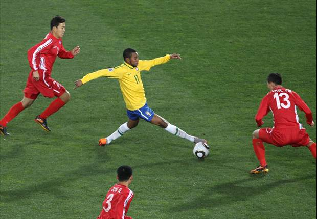 World Cup 2010: Brazil 2-1 North Korea - Second half goals from Maicon & Elano break Korean resistance
