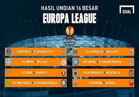 Hasil Undian 16 Besar Liga Europa 2014/15