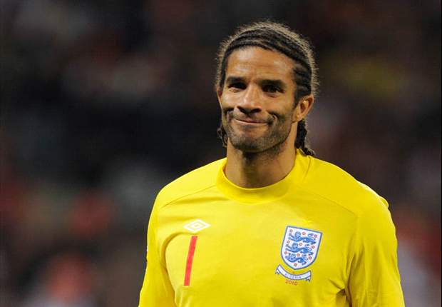Former England keeper David James training with Exeter City