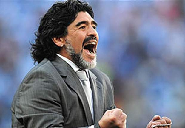 Diego Maradona Raises The Roof For Charity In Moscow Penalty Shoot-Out