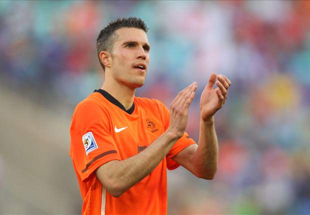 Holland striker Robin van Persie hopes to repeat the feats of his World Cup idol Diego Maradona