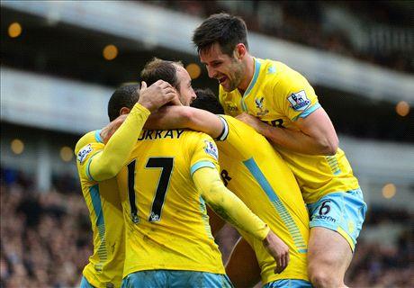 LIVE: West Ham 0-2 Crystal Palace
