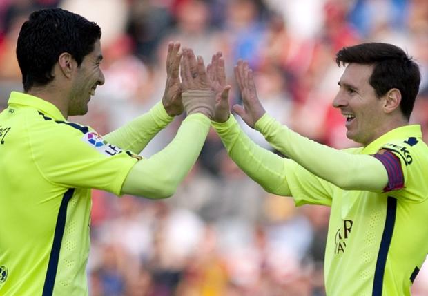 Luis Suarez Lionel Messi Granada Barcelona Primera Division 28022015