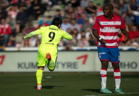 Résumé de match, Grenade-Barça (1-3)
