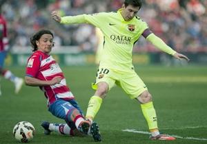 Manuel Iturra jugó todo el partido en la caída 3-1 de Granada ante Barcelona.