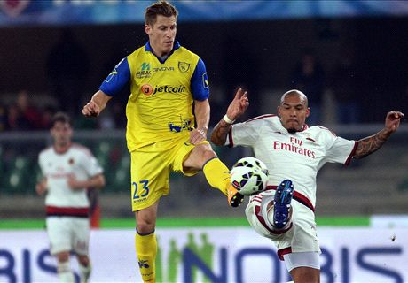 Milan held by struggling Chievo