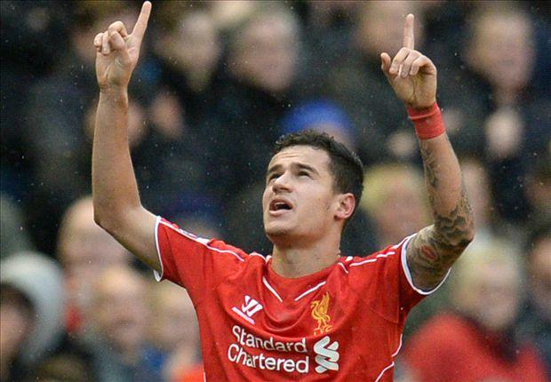 Liverpool 2-1 Manchester City: Coutinho cracker keeps Reds' run going