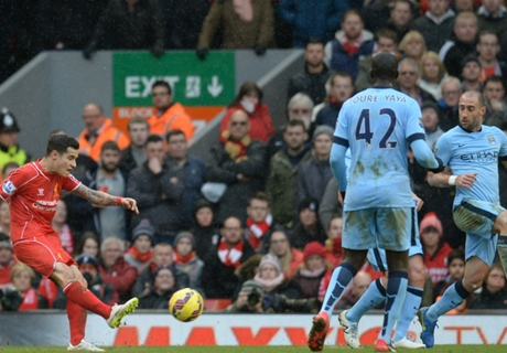 Liverpool 2-1 Man City: Coutinho winner