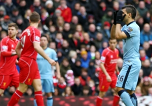 Before this match Manchester City were the only Premier League team not to concede a goal from outside the box this season – both of Liverpool's goals came from range.