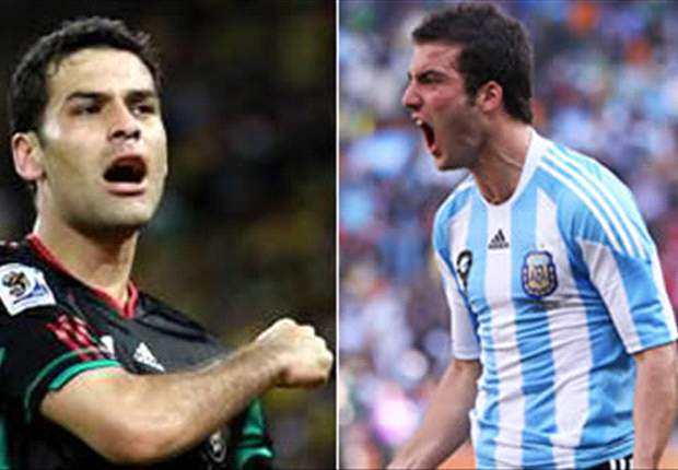 World Cup 2010: OFFICIAL Argentina-Mexico Lineup: Maxi Rodriguez Starts For Albiceleste, El Tri To Go With Hernandez-Bautista Partnership