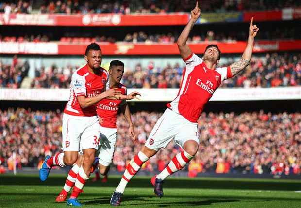 Arsenal 2-0 Everton: Giroud and Rosicky get Gunners back in the winning groove