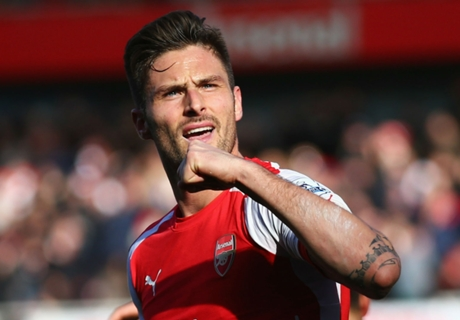 Arsenal 2-0 Everton: Giroud strikes