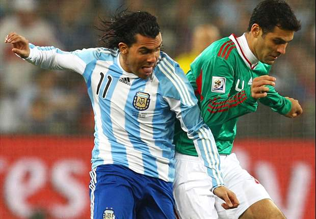 World Cup 2010: Argentina 2-0 Mexico: Tevez And Higuain Confirm Argentine Supremacy At Half-Time