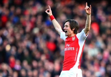 Rosicky finishes sticky Toffees tie