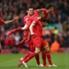 Liverpool Player Celebrates