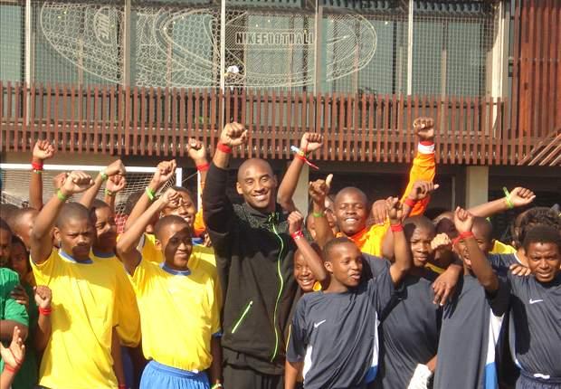 Kobe Bryant Visits Nike Football Training Center In Soweto