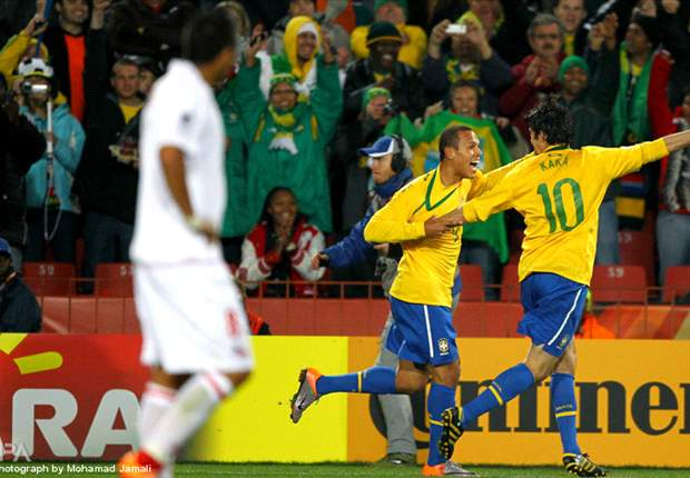 Kaka And Luis Fabiano Happy To Be Forming A Great Partnership With Brazil At The World Cup