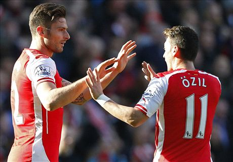 Top stats: Ozil assists & City slide