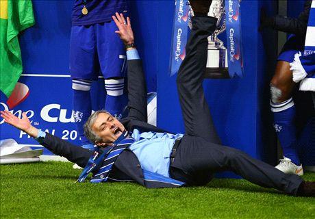 In pics: Mourinho's slip & Chelsea's joy