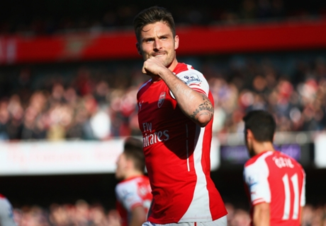 Giroud thanks Wenger after Everton goal