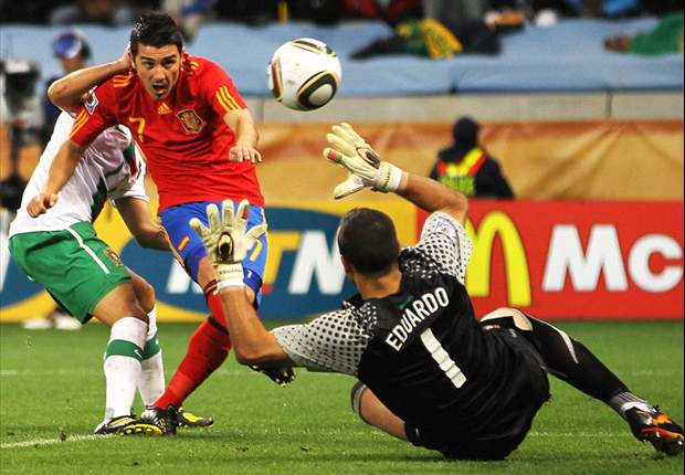 David Villa Bawa Spanyol Singkirkan Portugal