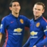 Angel Di Maria and Manchester United team-mate Wayne Rooney