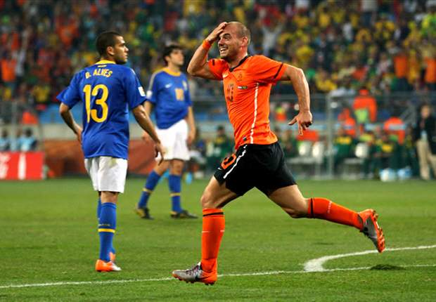 World Cup 2010: Netherlands star Wesley Sneijder ecstatic after beating Brazil
