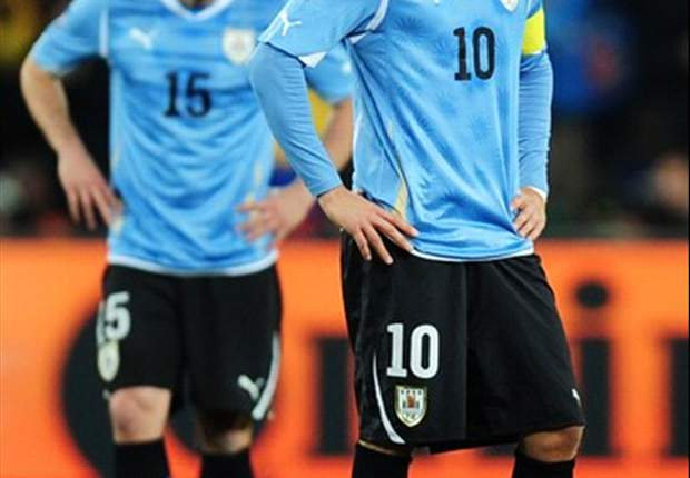 Liverpool's Luis Suarez & Atletico Madrid striker Diego Forlan on target as Uruguay warm up for Copa America with 5-0 win in charity match
