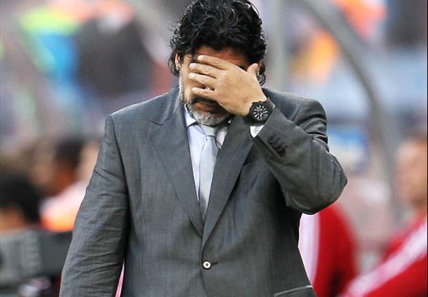 World Cup 2010: Argentina Coach Diego Maradona: I Haven't Thought Of Stepping Down, But I Could Go Tomorrow