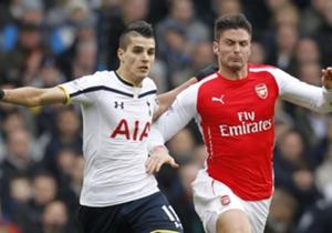 Erik Lamela Tottenham; Olivier Giroud Arsenal