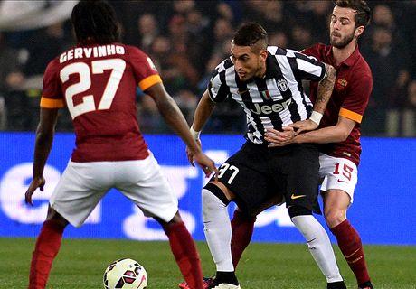 Roma-Juve LIVE! 0-0, gara bloccata