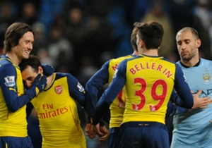 "ARSENAL | Wenger on... Catching Manchester City | ""Of course it is possible. If you ask a team four points behind us if they could catch us and they would say certainly, yes."""