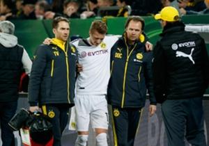 Borussia Dortmunds Marco Reus erwischte es in Dresden erneut