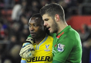 Shola Ameobi came on as a substitute as Crystal Palace were beaten by Southampton