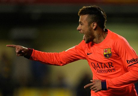 Neymar double books Barca's final spot