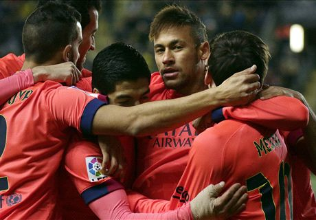 Neymar double books Barca's final spot