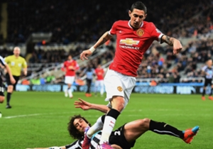 Angel Di Maria completed just 64% of his passes in this match – the worst ratio of any Manchester United player.