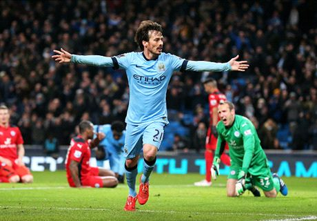 Silva helps City struggle past Leicester
