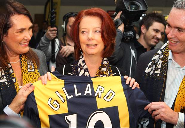 Prime Minister Julia Gillard Pledges Support To Central Coast Mariners' Centre Of Excellence