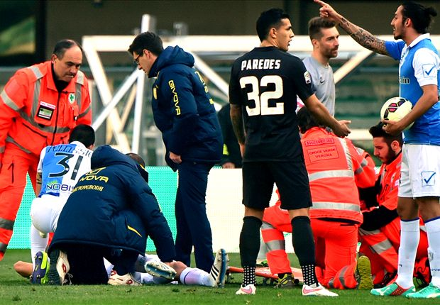 Chievo 0-0 Roma: Mattiello horror injury overshadows stalemate