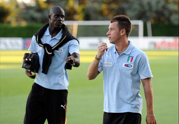 Italy Coach Cesare Prandelli Confirms Plan To Build Team Around Antonio Cassano & Mario Balotelli