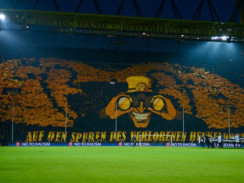 borussia dortmund stadion yellow wall. Black Bedroom Furniture Sets. Home Design Ideas